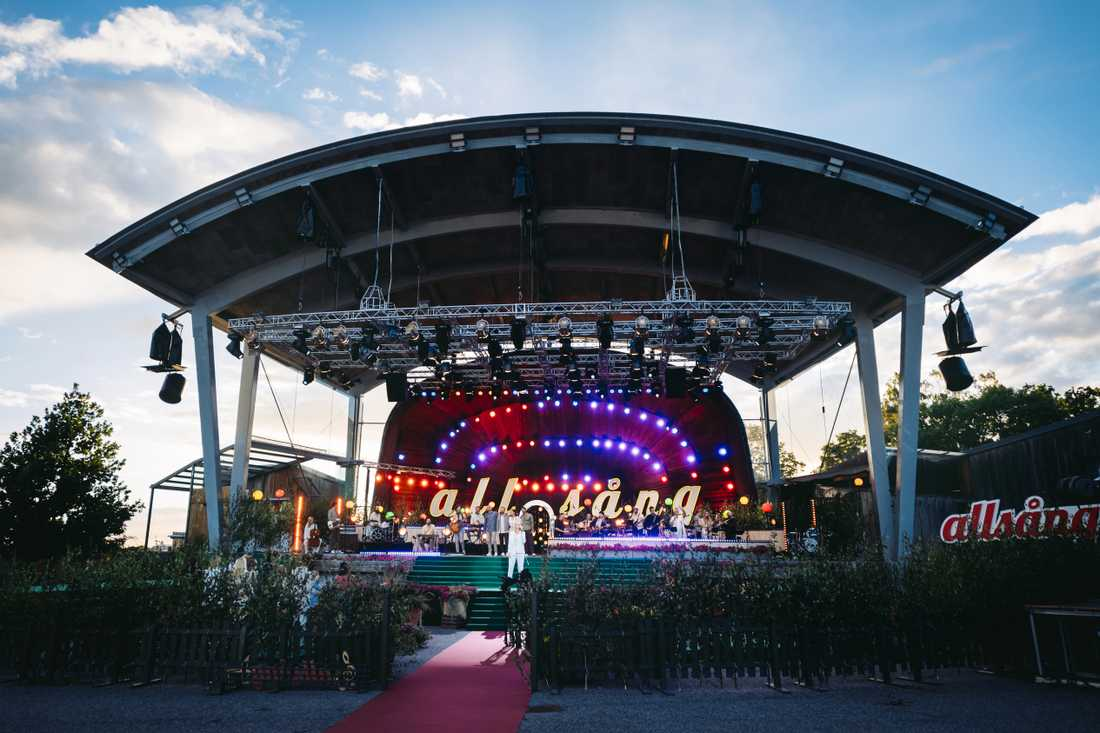 """I år spelas """"Allsång på Skansen"""" in utan publik på grund av coronapandemin. Arkivbild."""