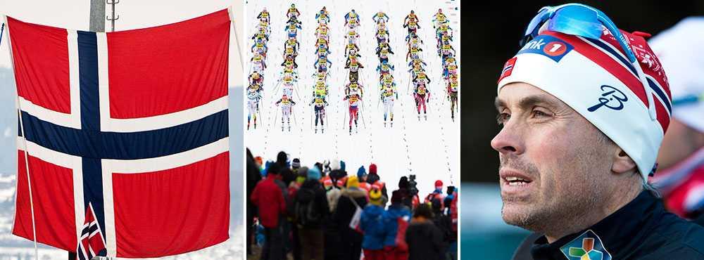 Norska skidförbundets sportchef Vidar Löfshus (till höger).