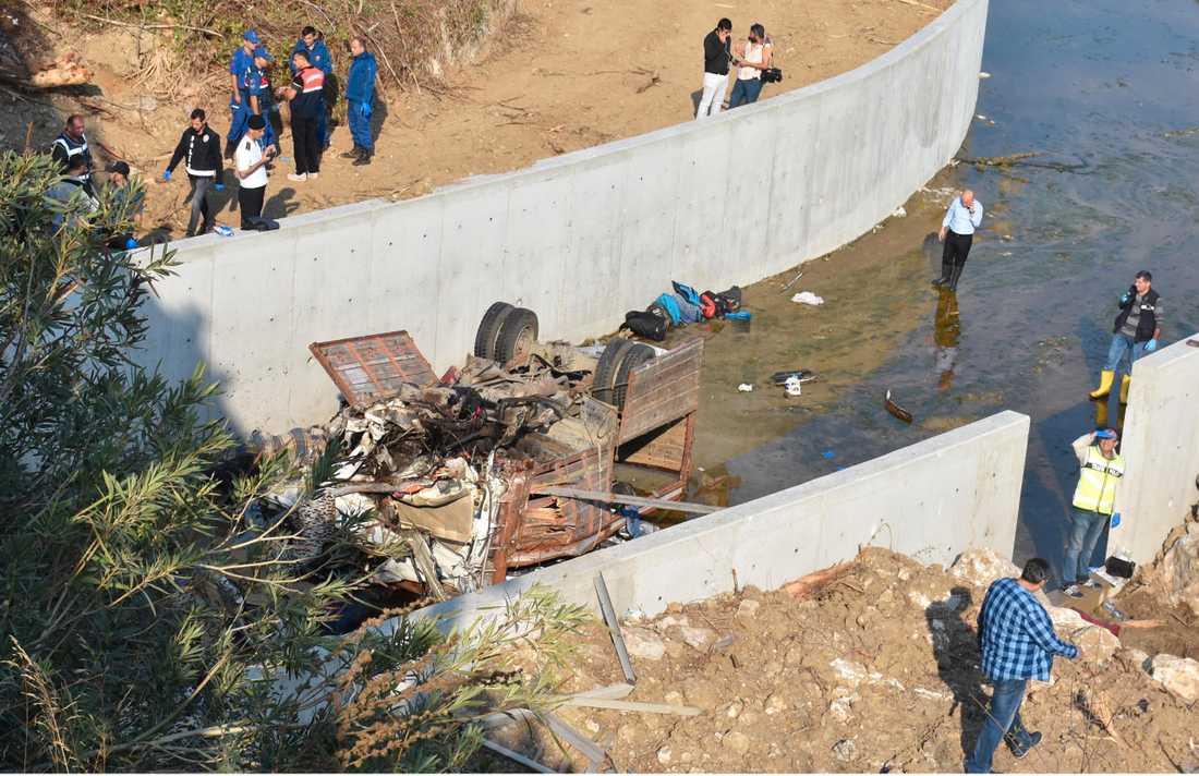 Bild på olyckan i Turkiet