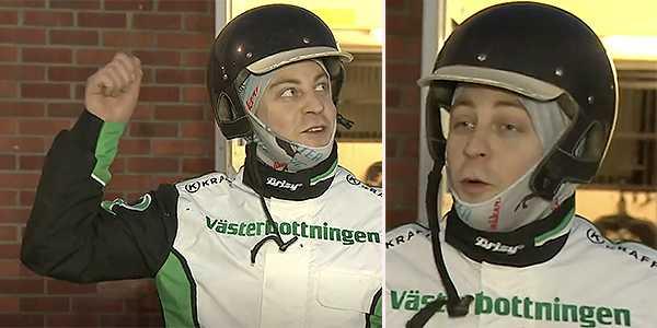 Joakim Rupertsson efter segern.