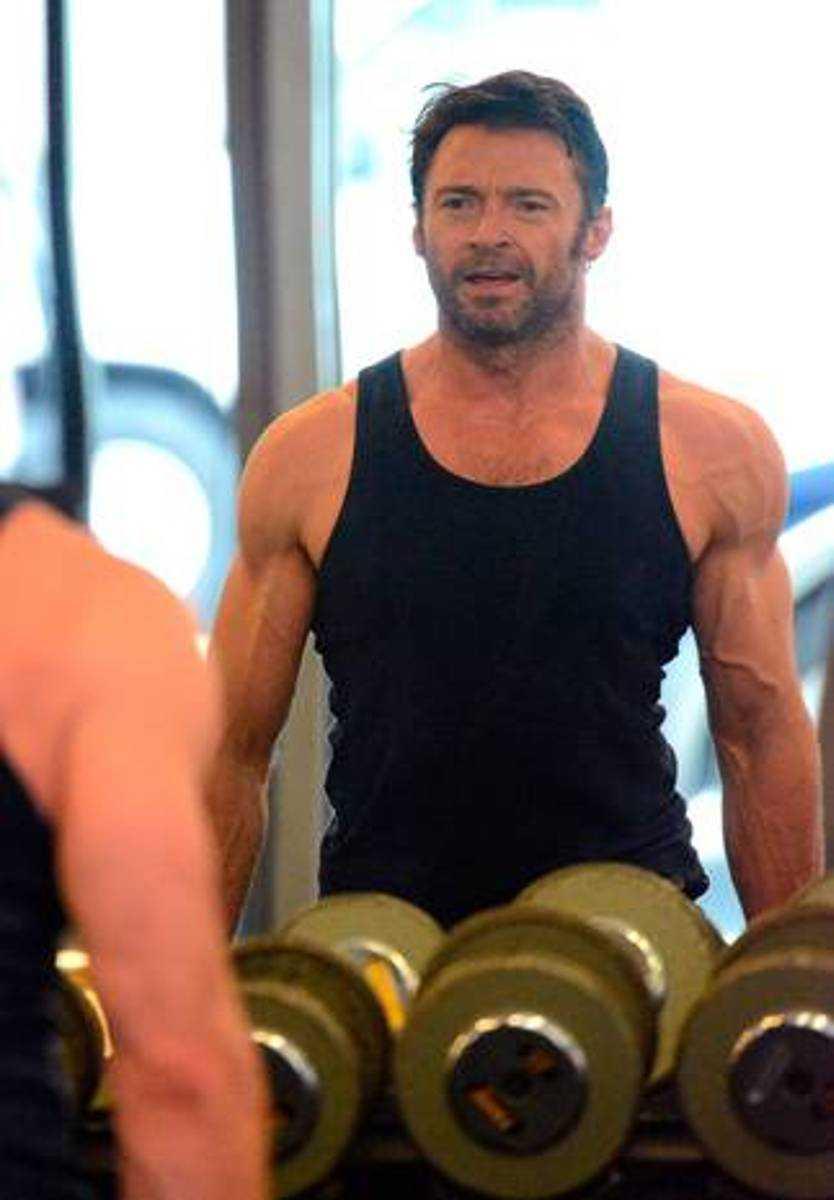 Hugh JackmanNär Hugh Jackman återigen skulle bli Wolverine byggde han på sig rejält i muskelmassa. Jackman har tränat upp sig till den grad att han knappt känner igen sig själv. Ett par timmars träning per dag ska vara hemligheten bakom den nya superkroppen.