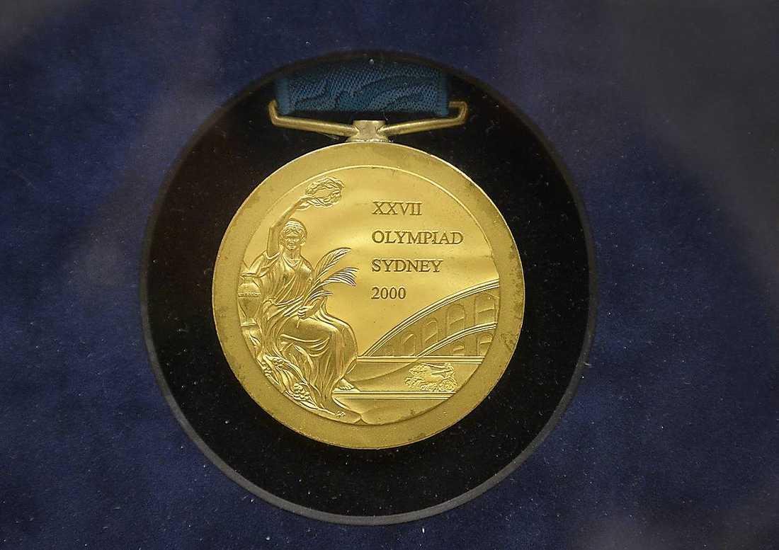 ...och den finaste av dem alla: OS-guldet från Sydney 2000.