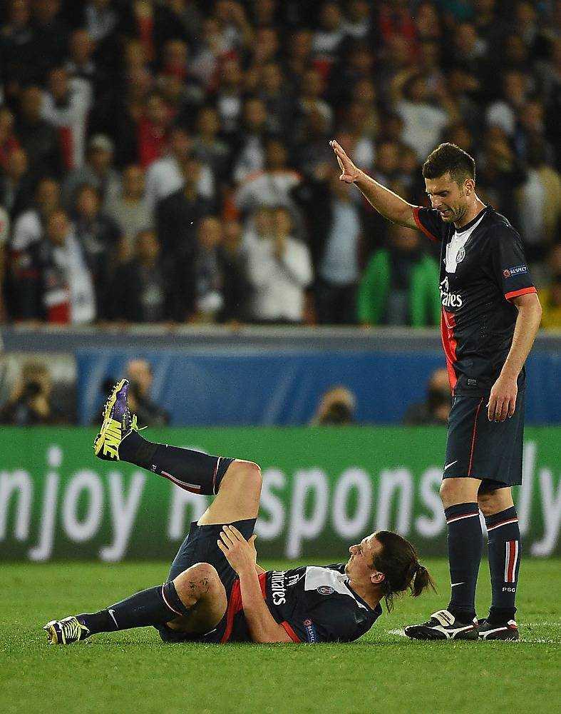 Zlatan skadade sig i förra mötet.