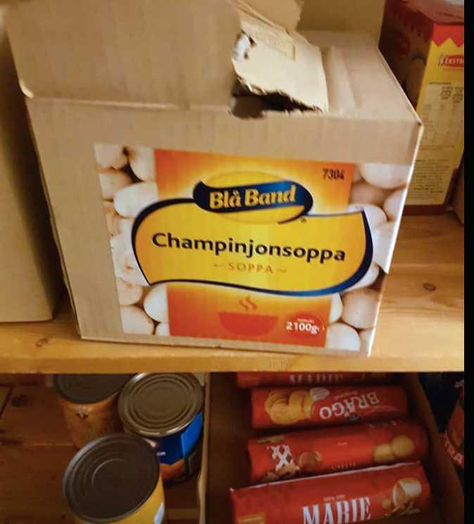 Champinjonsoppa.