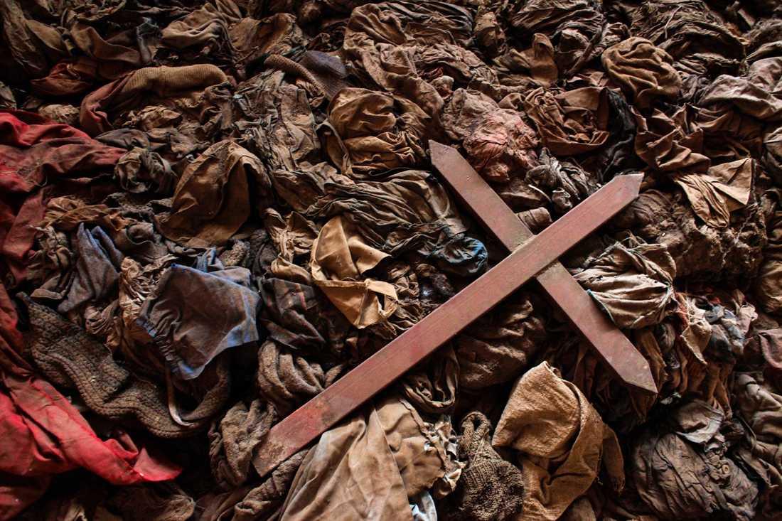 Vid massakern i Nyamata, Rwanda, 1994, dödades 10000 tutsi.