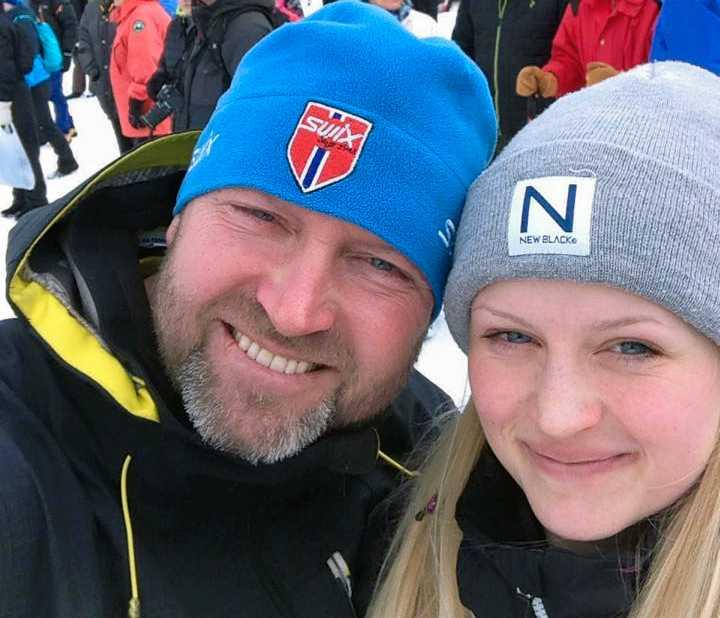 Roger Moberg med dottern Tova.