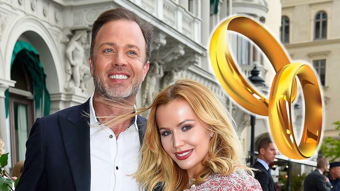 Alexander Kronlund med hustrun Rebecka.