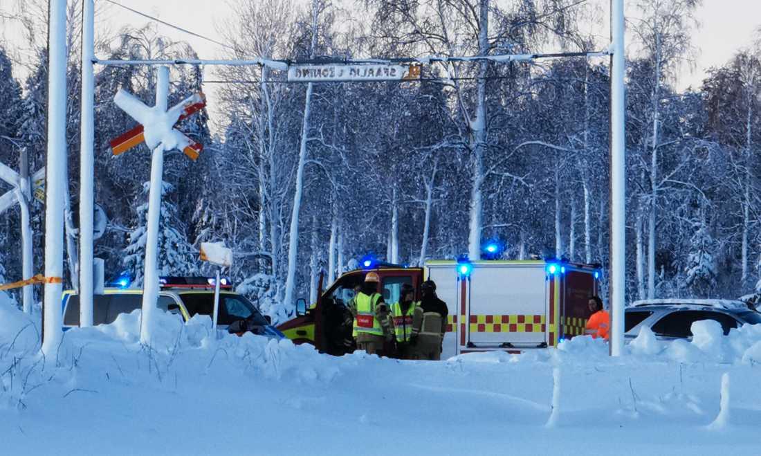 Olycksplatsen i Söråker.