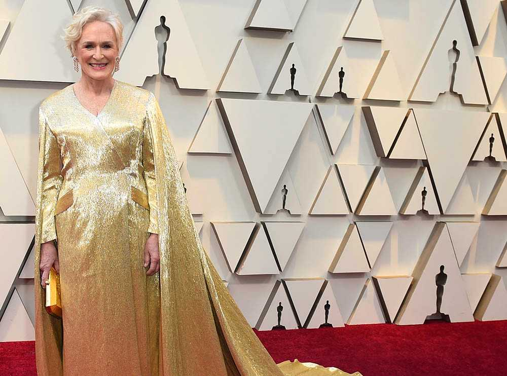 Glenn Close på Oscarsgalan 2019.