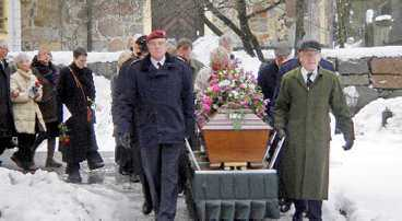 Allan Mann fick en hjältes begravning.