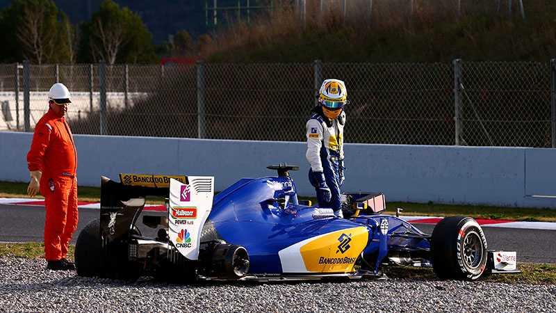 Marcus Ericsson hade stora problem med bilen.