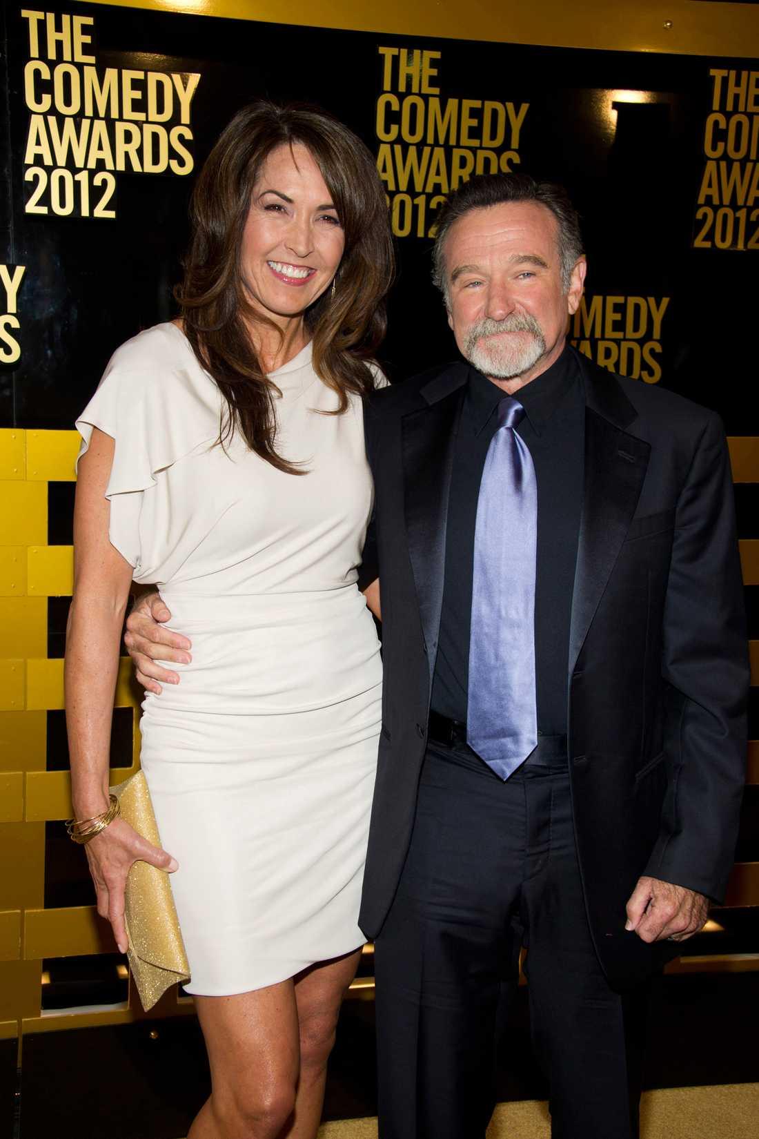 Robin Williams tillsammans med sin fru Susan Schneider.