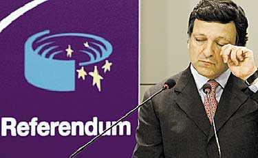"""""""INTE NU IGEN!"""" EU-kommissionens ordförande Jose Manuel Barroso verkade inte ha långt till tårarna när han i går kväll i Bryssel kommenterade ännu ett nej till EU-fördraget. Holländarna röstade mot det med ännu större marginal än fransmännen."""