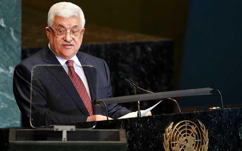 Palestiniernas president Mahmoud Abbas talade inför FN:s generalförsamling på lördagen.