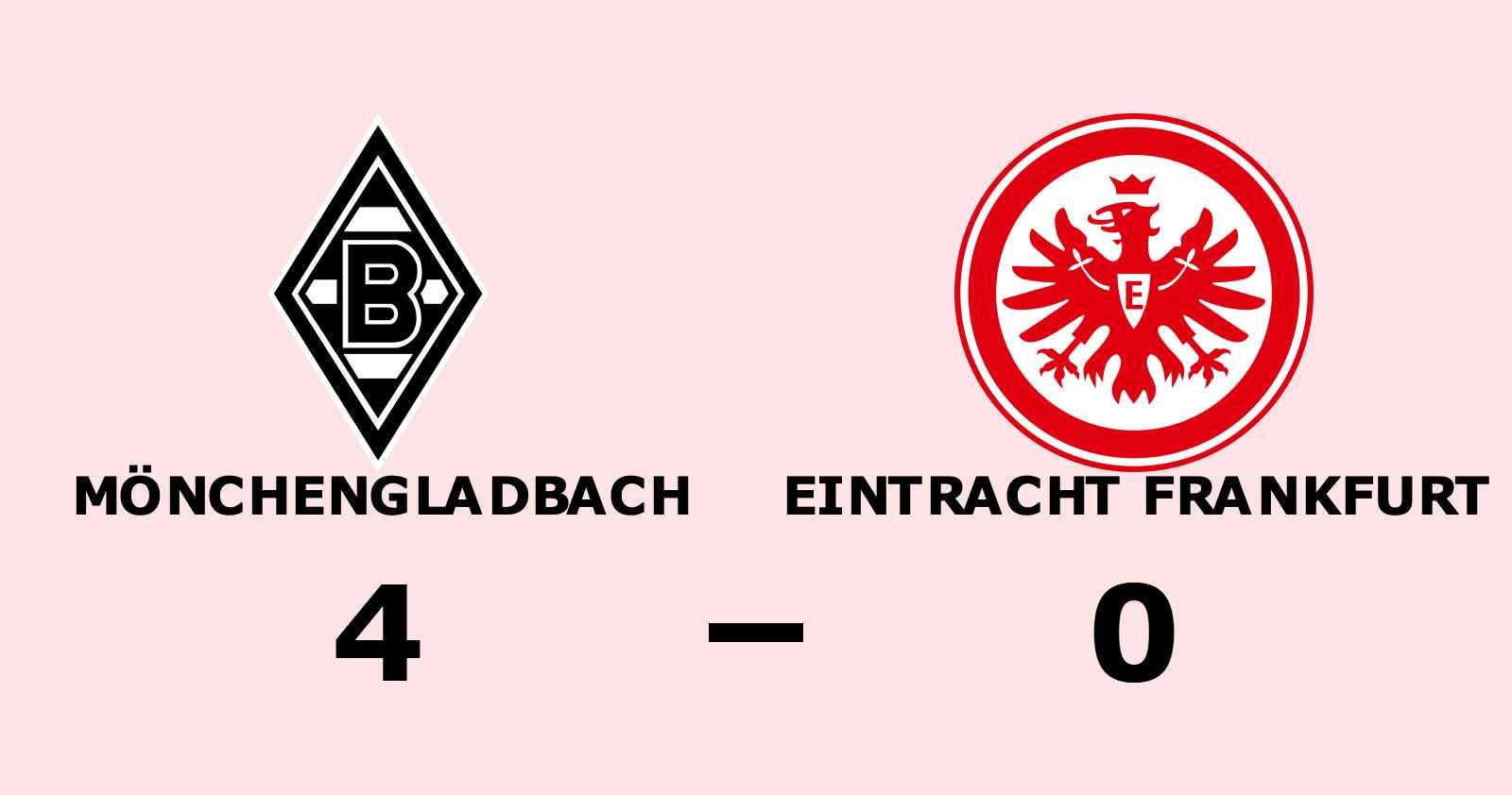Klar seger för Mönchengladbach mot Eintracht Frankfurt på Borussia-Park