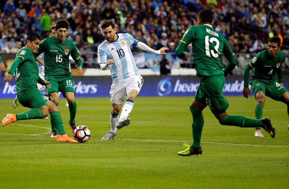 Messi spelade 45 minuter i segermatchen mot Bolivia