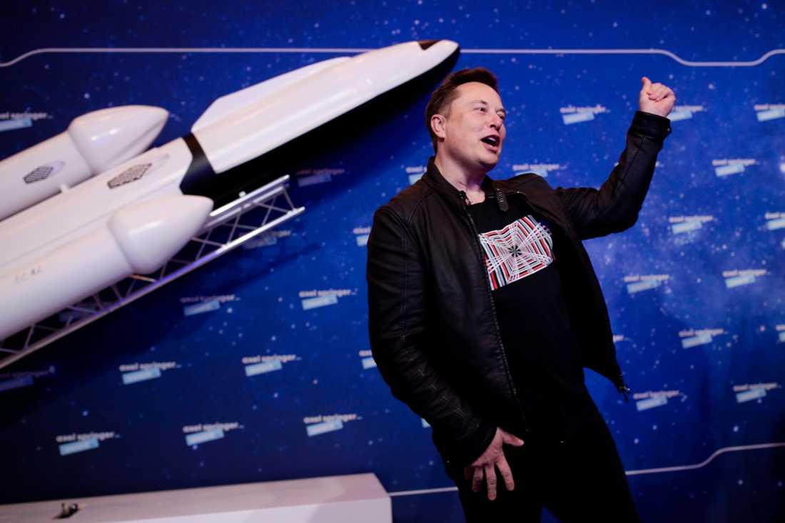 Teslagrundaren Elon Musk.