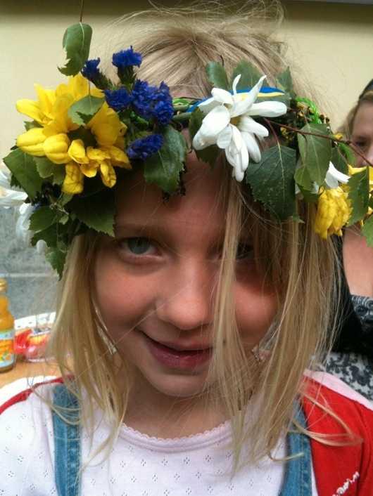 Elisabeth skickade den här bilden från sin resa genom Sverige med hennes barnbarn Tindra.