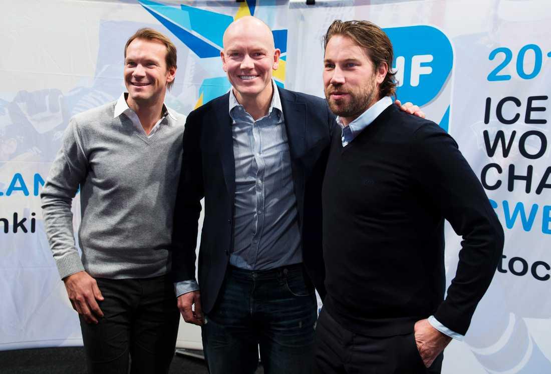 Nicklas Lidström, Mats Sundin och Peter Forsberg.