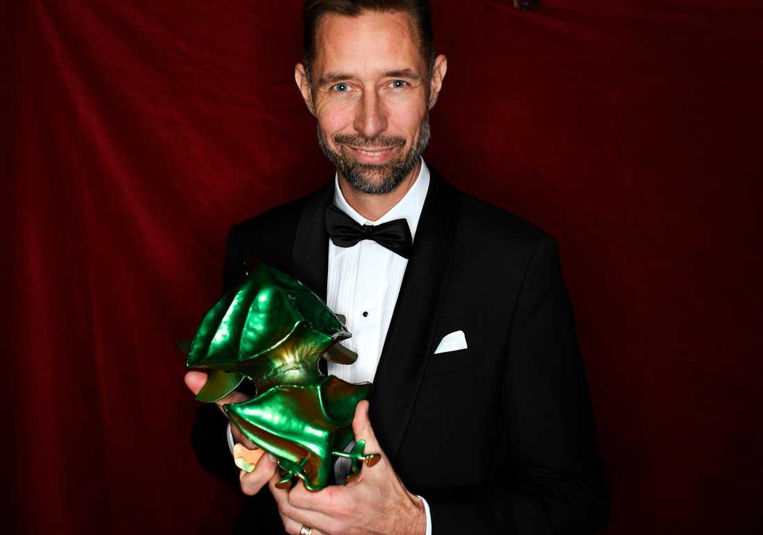 """Christian Holm vinner priset för bästa ljud för filmen """"Gräns""""."""