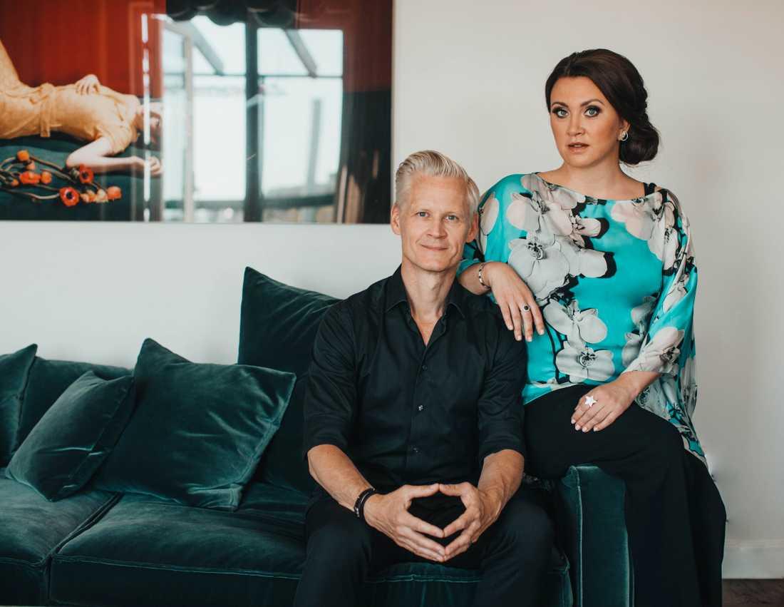 Henrik Fexeus och Camilla Läckberg. Pressbild.