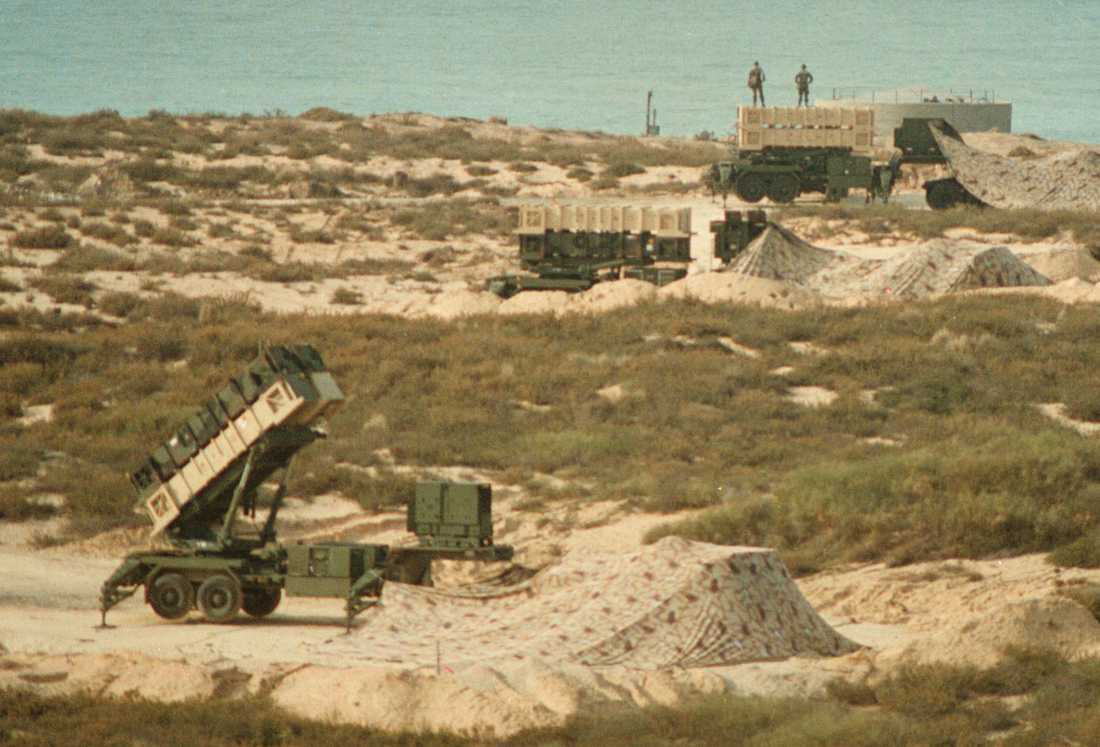 Luftvärnssystemet Patriot användes av Israel under Gulfkriget. Bilden är från 1991.