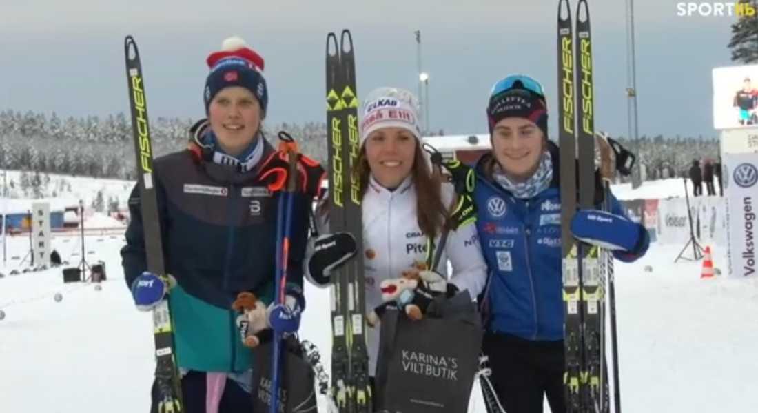 Kalla och Ebba Andersson på pallen