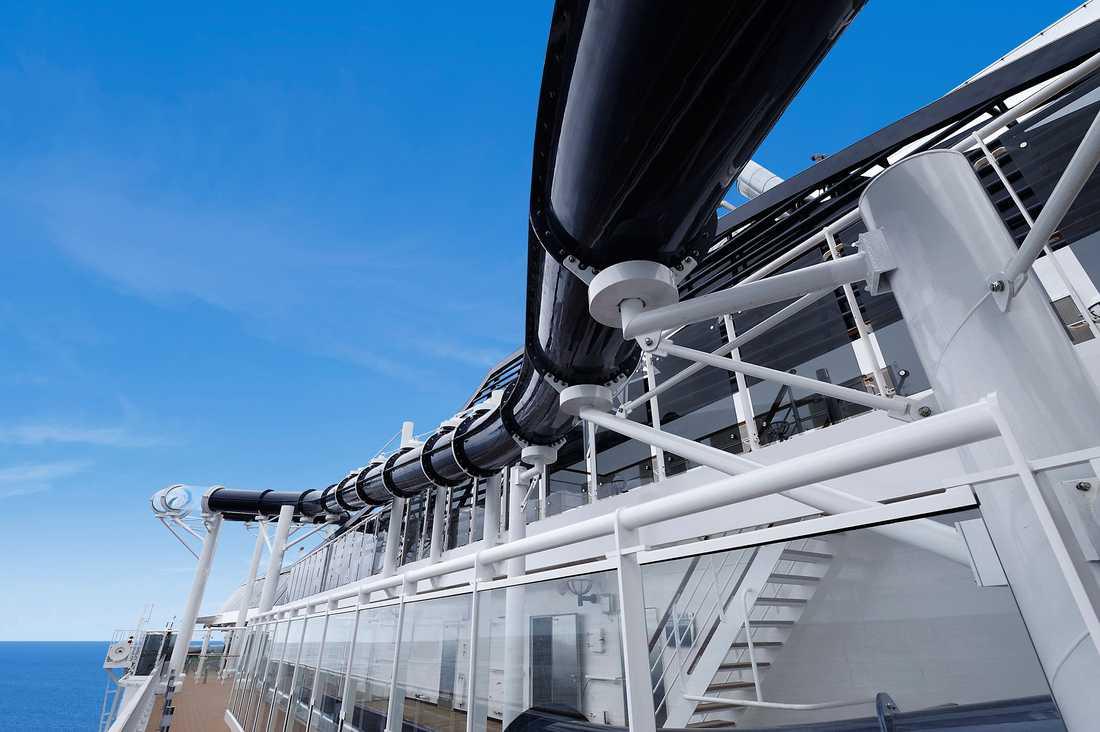 MSC PREZIOSA Vattenrutschbanan Vertigo, världens längsta till havs.