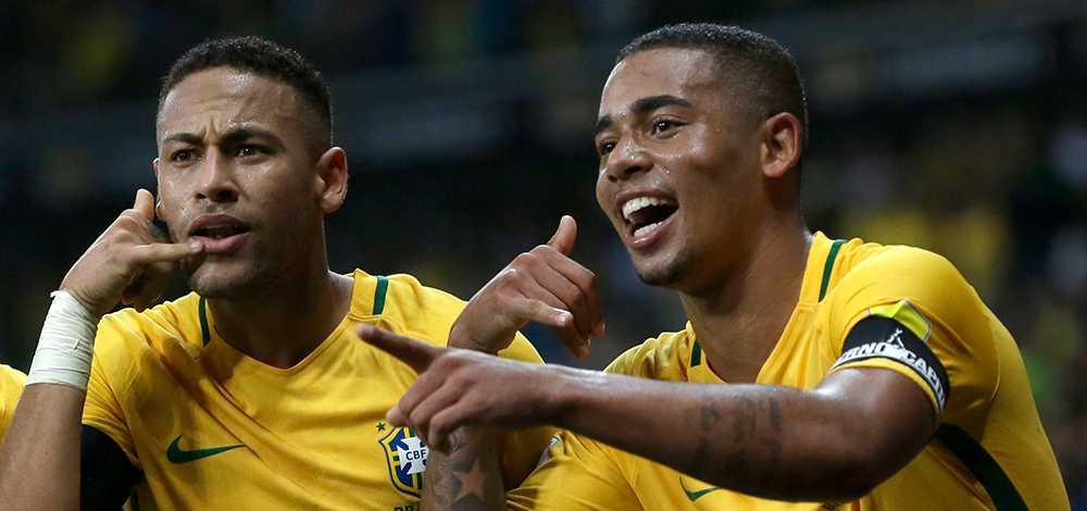 Neymar och Gabriel Jesus.
