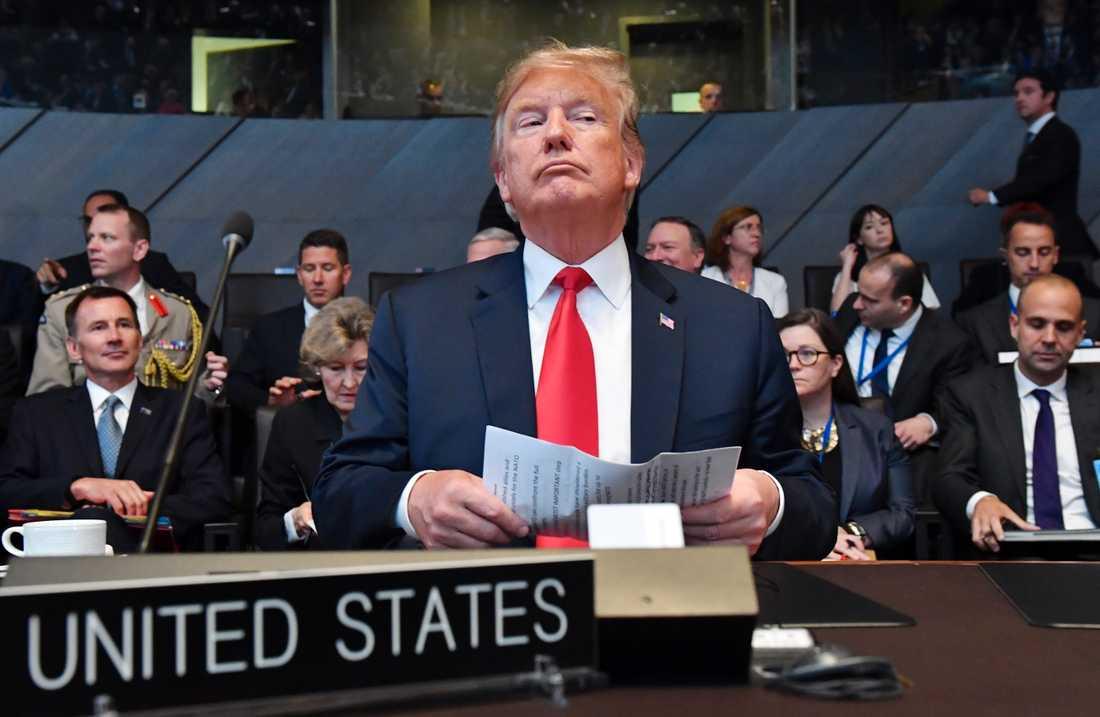 Trump är inte nöjd med de allierades försvarsutgifter.
