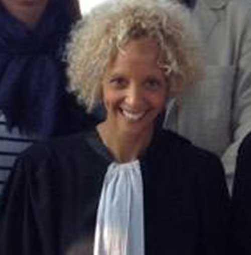 Terrormisstänkte svenskens advokat Gisèle Stuyck.