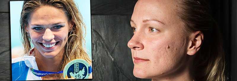 Sarah Sjöström säger att hon är ledsen och besviken över beskedet att ryskan Julia Efimova åkt fast för dopning igen.