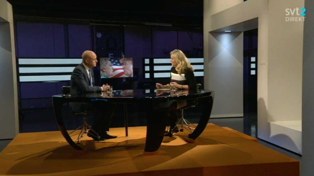 "Fredrik Reinfeldt var gäst i ""Agenda"" under söndagskvällen."