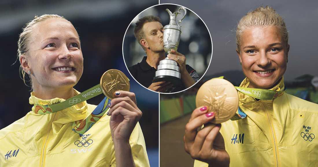 Sjöström och Rissveds tog OS-guld, Stenson tog majorseger som första svensk man... Svårt val.