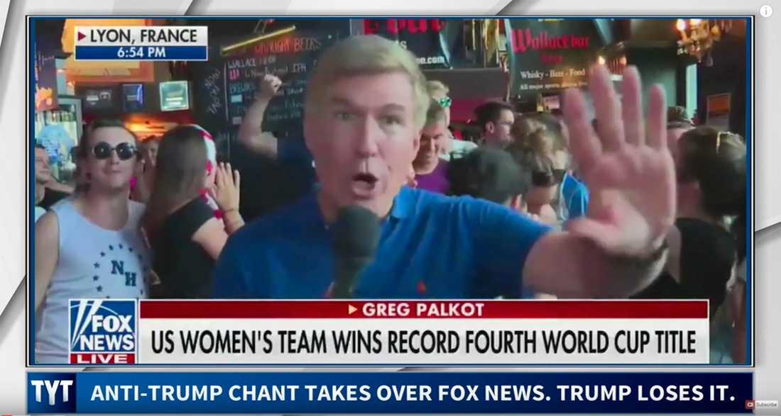 Bild från tv-inslaget som Donald Trump ilsknade mot.