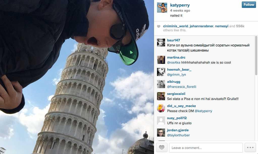 Fyra veckor sedan: Pisa, Italien.