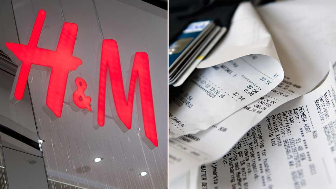 H&M att de växlar om till digitala kvitton i sina butiker.
