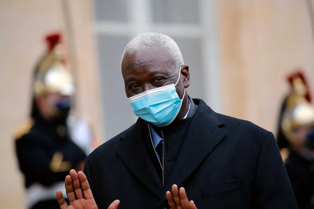 Mali's interim president, Ba Ndaou, here in Paris in January, is one of the arrested leaders.
