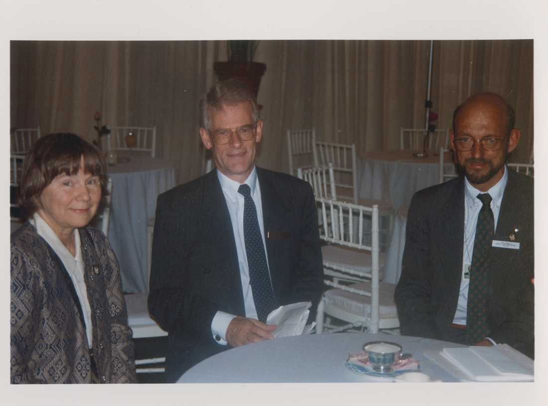 Lisbeth Palme, Ingvar Carlsson och Hans Dahlgren på Unicefs World summit for children.