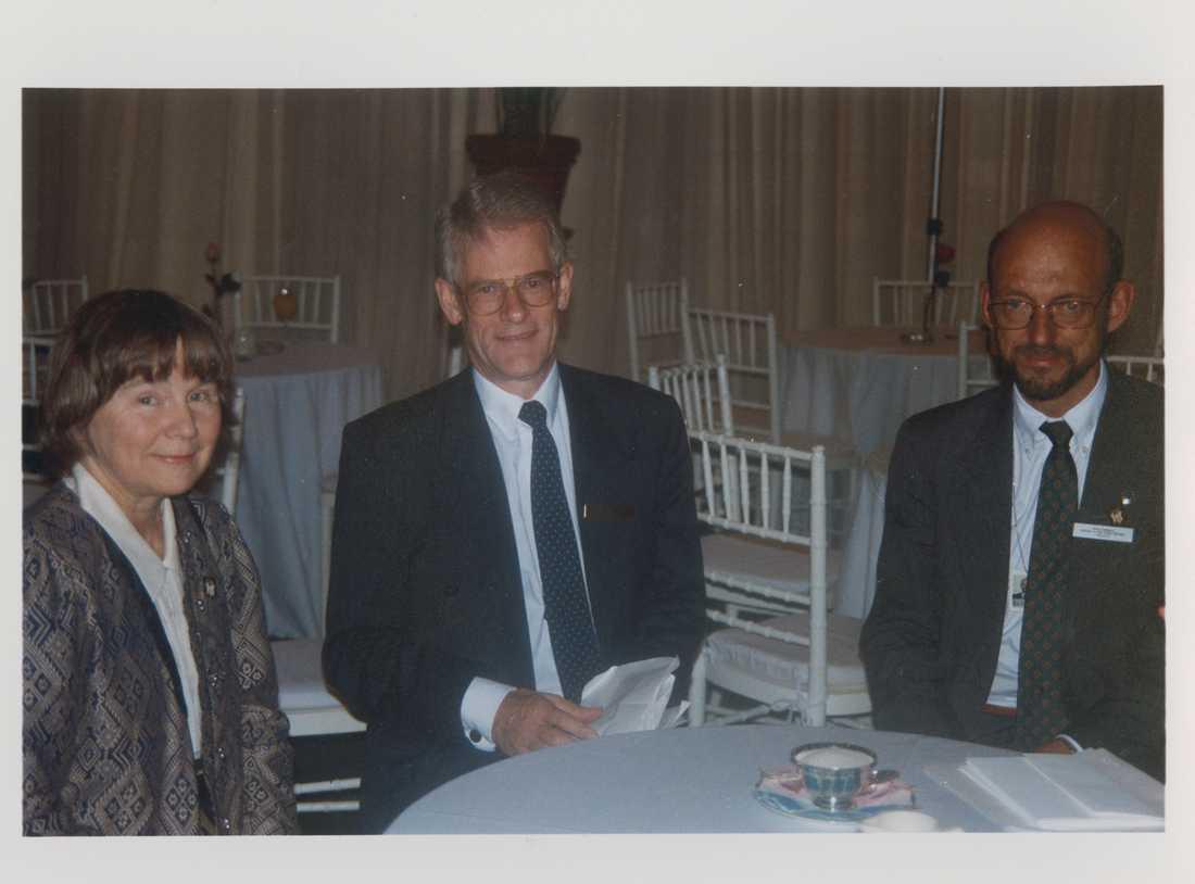 Lisbeth Palme, Ingvar Carlsson och Hans Dahlgren på Unicefs World summit for children.