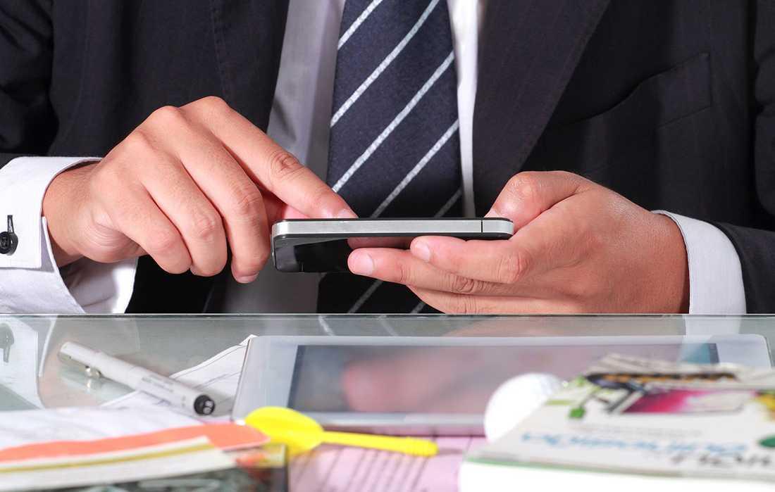 Skicka sms är inte lämpligt under jobbintervjun.