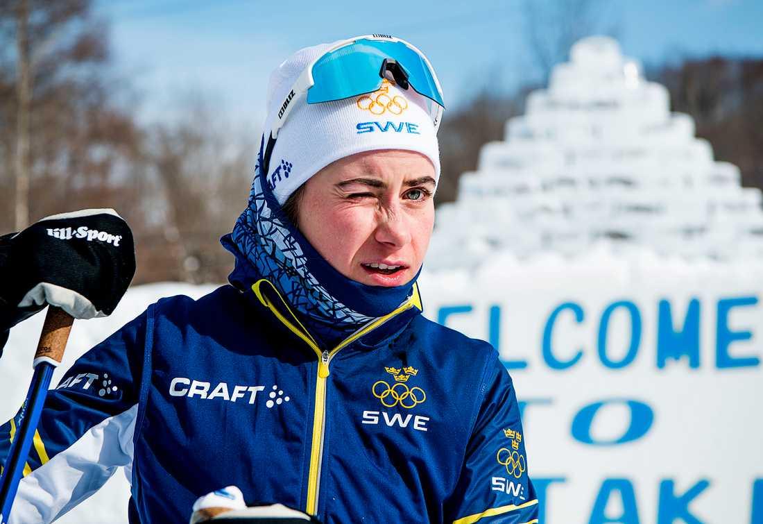 Ebba Andersson i Japan för att ladda. Nu får hon åka OS-premiären.