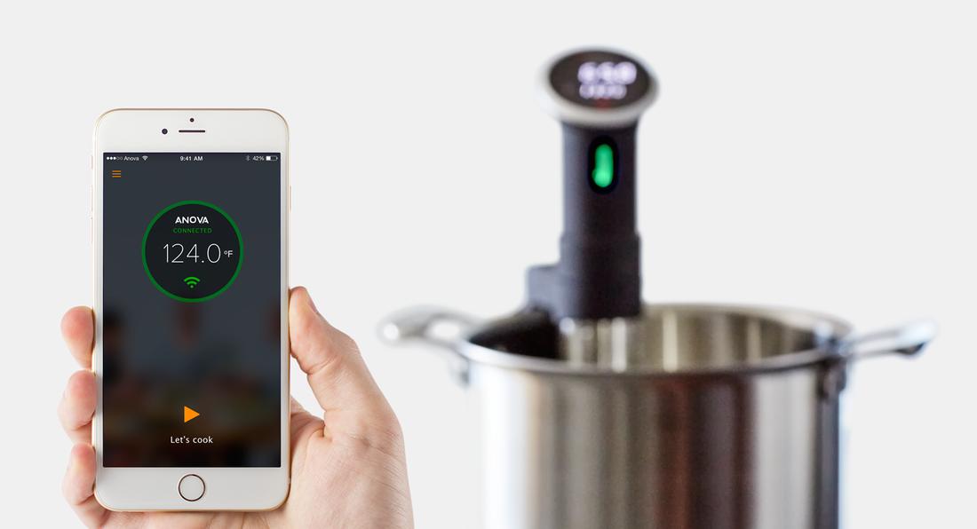 Med Anova Precision Cooker kan du laga mat via internet.