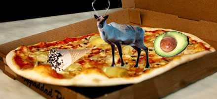 MMMM...MYSKO Det finns pizza med glass, renskav, avocado, potatischips, spaghetti.... Men vilken är konstigast?