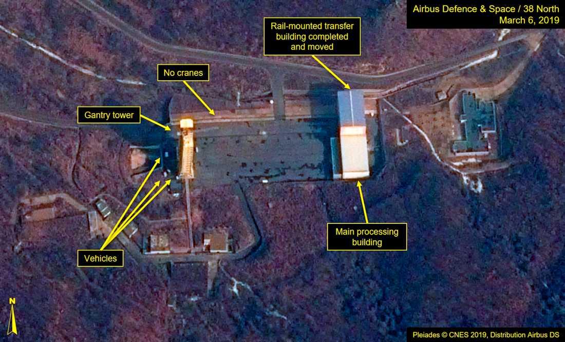 En satellitbild från i mars som visar Sohae i Nordkorea.