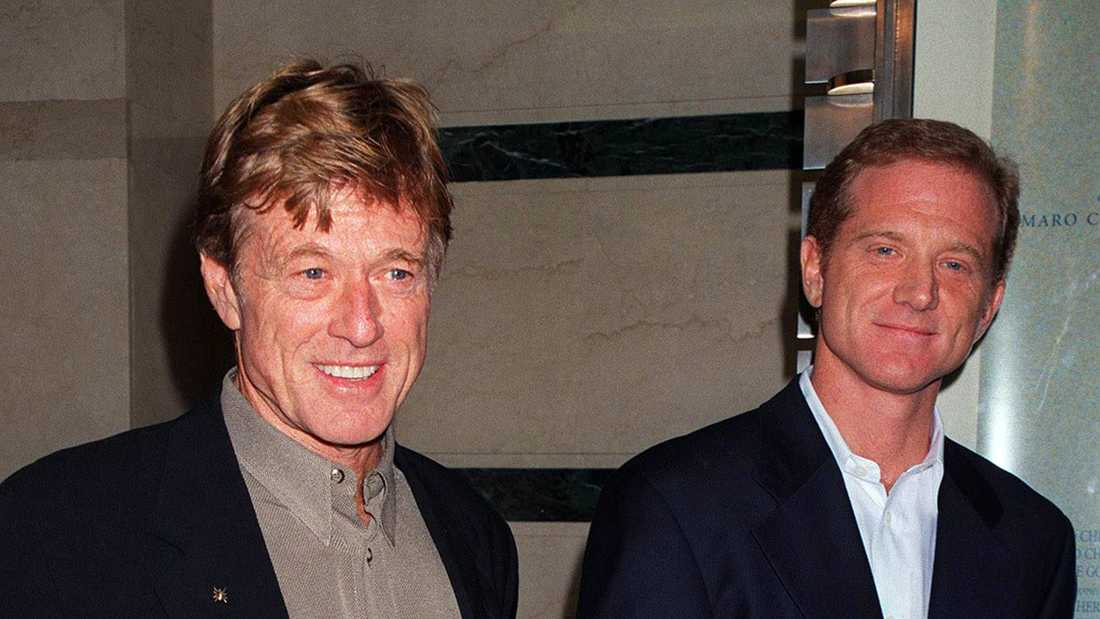 Robert Redford med sonen James.