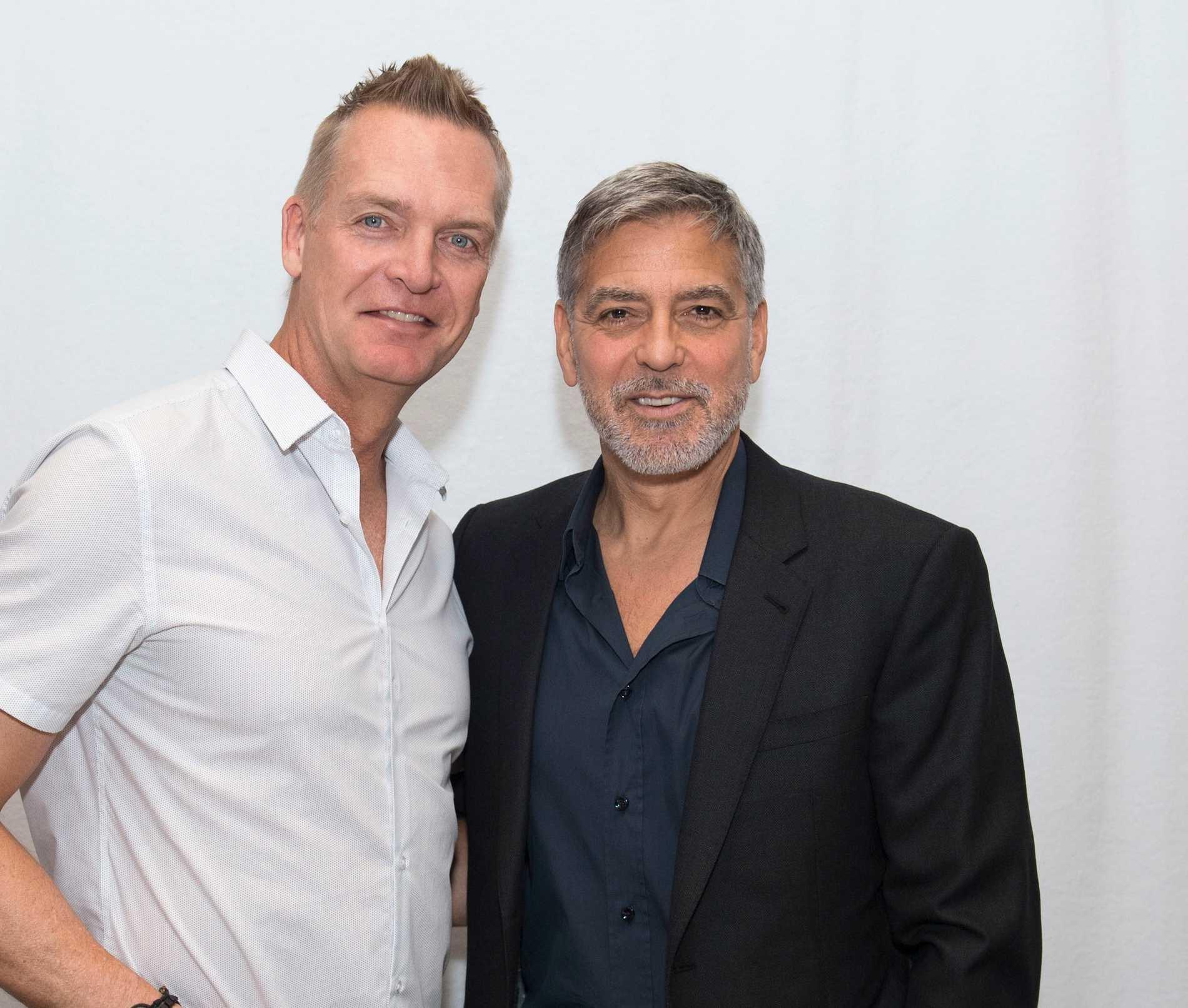 Magnus Sundholm och George Clooney.