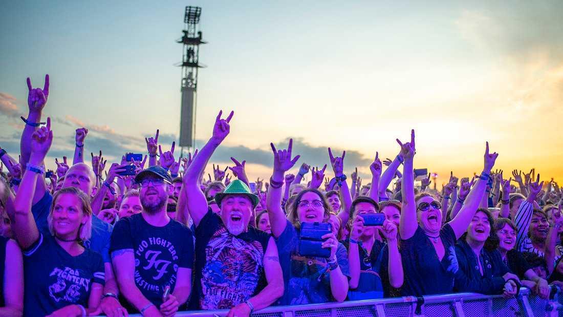 Lollapalooza lockade drygt 56000 besökare under tre dagar. Bilden tagen i samband med Foo Fighters spelning dag 2.