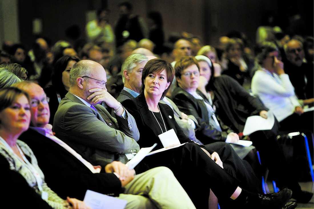"""Stort förtroende S-kongressen har visat stort förtroende för S-ledaren Mona Sahlin.""""Jag har fått igenom det som är viktigt och det är jag väldigt nöjd med"""", säger Mona Sahlin."""