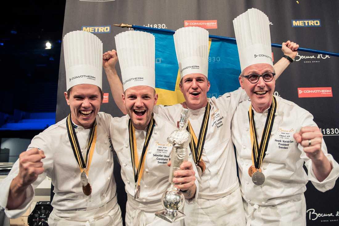 Från vänster: Tommy Myllymäki, Sebastian Gibrand, Gustav Leonhardt, Henrik Norström